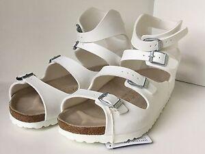 1a2f984007fd Birkenstock Athen 032231 Size 39 L8-8.5 R White Birko-Flor Sandals ...