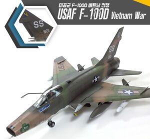 Academy-1-72-USAF-F-100D-034-Vietnam-War-034-Edition-Military-Plastic-Scale-Model-Kit