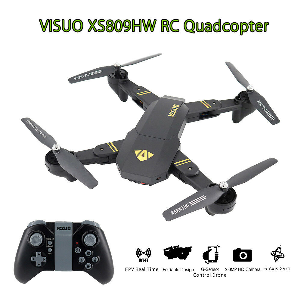 VISUO XS809HW Wifi FPV 2MP Camera RC Quadcopter Drone Portable Video Record Gift