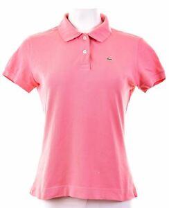 LACOSTE-Womens-Polo-Shirt-EU-46-XL-Pink-Cotton-DY14