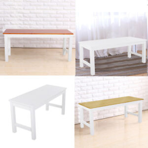Image Is Loading White Brown Natural Pine Dining Bench Wood Seat