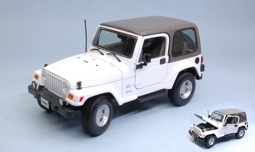 Jeep Wrangler Sahara 2007 Hard Top White 1 18 Model MAISTO