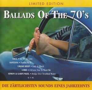 Ballads-of-the-70-039-s-10cc-Santana-Joe-Cocker-Uriah-Heep-Boston-Lobo-CD