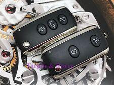 Set Of 2 Bentley Key Set GT GTC Flying Spur Key Fob 3 Button+Panic New Blades