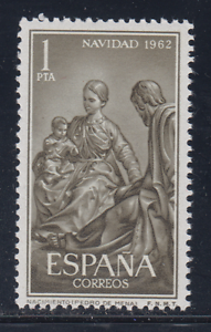 ESPANA-1962-MNH-NUEVO-SIN-FIJASELLOS-SPAIN-SC-SCOTT-1151-NAVIDAD