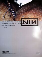 """NINE INCH NAILS """"AND ALL THAT COULD HAVE BEEN"""" 2-SIDED U.S. PROMO POSTER"""