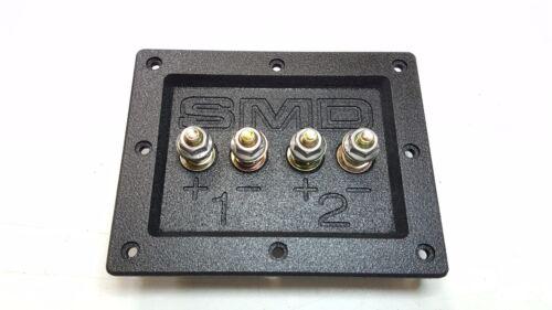 """SMD 2 Channel Heavy Duty Speaker Terminal Grade 8 3//4/"""" PVC Black"""