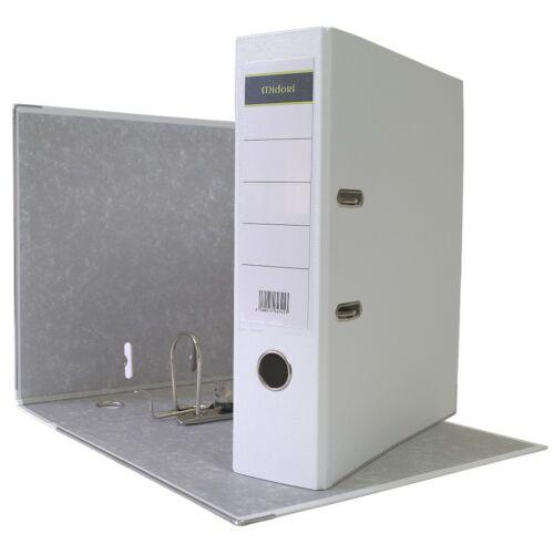 8 x Ordner A4 8cm PP Kunststoff Weiss Aktenordner Briefordner Breit Büro
