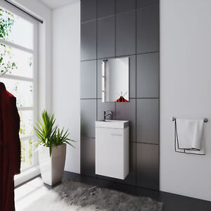 g stebad set weiss g ste wc waschplatz waschtisch waschbecken spiegel ebay. Black Bedroom Furniture Sets. Home Design Ideas