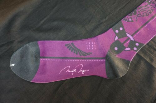 VK Nagrani Men/'s Dress Socks Mid Calf Cowboy CB06 PURPLE