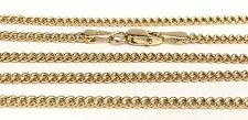 18k Solid Yellow Gold Italian Flat Curb/ Link Chain Necklace, 24Inches. 4.87Gr