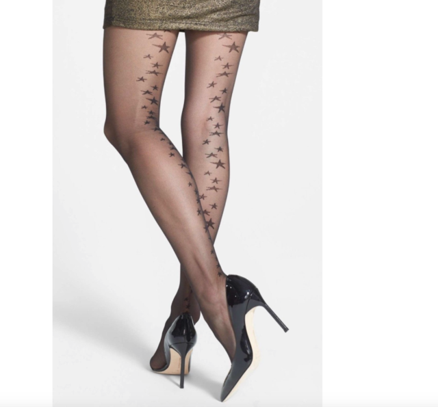 a41ff4886 Nordstrom Star Back Seam Sheer Black Tights Sz S m 1905 for sale ...