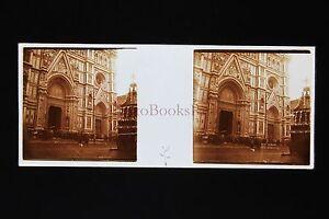 Italie Italia Firenze Florence Plaque Stéréo Pos.ca 1910
