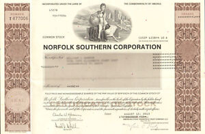 Norfolk-Southern-Corporation-gt-railroad-stock-certificate-Virginia-share