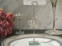 50 Silver Cinderella Fairytale Royal Crown Photo Place Card Holder Wedding Favor