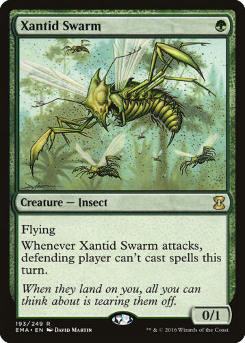 Xantid Swarm Eternal Masters NM-M Green Rare MAGIC THE GATHERING CARD ABUGames