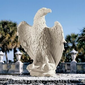 America's Eagle Design Toscano Exclusive Indoor Outdoor Statue With Stone Finish