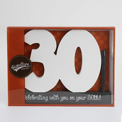 Signature Number - 30 Special Occasion Party Gift Memory Keepsake