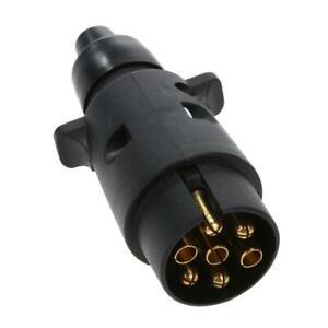 7-poliger-Kunststoff-Stecker-Anhaengerstecker-7-polig-PKW-Anhaenger-RV-12V-EU-SL