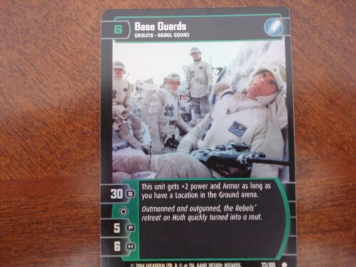 Star Wars TCG R/&S Base Guards FOIL 73//105