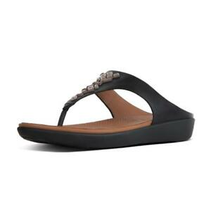 062d1c044 Image is loading NEW-Fitflop-BANDA-II-Crystal-Black-Leather-Toe-