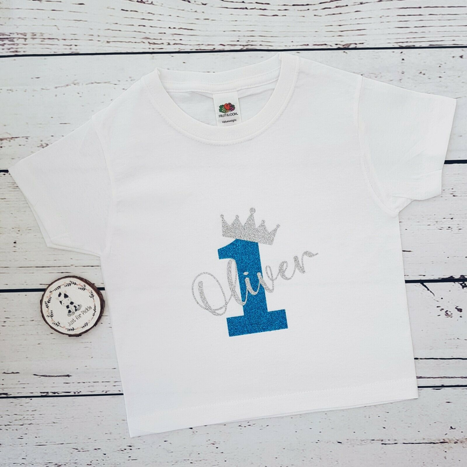 First Birthday Tee One Personalised Boys 1st Birthday T-Shirt Cake Smash Outfit, Name And Number 1 On Back Of Shirt 1st Birthday Gift