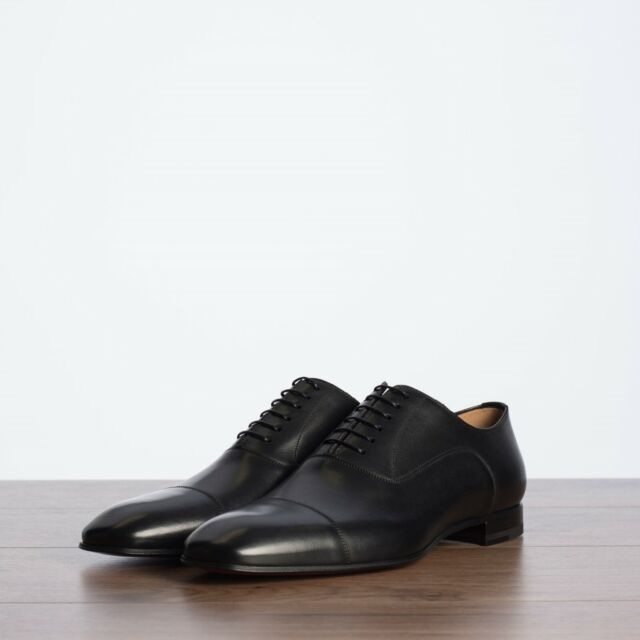 bc39bf6b915 CHRISTIAN LOUBOUTIN 850$ Greggo Oxfords Shoes In Black Leather