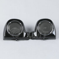 6.5 Speaker Pod Box Grills Lower Vented Fairing For Harley Touring Models 14-17