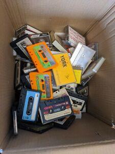 HUGE CASSETTE TAPE LOT OLDER 70S-80S HOME RECORDINGS USED BLANK YORK B&H  VTG