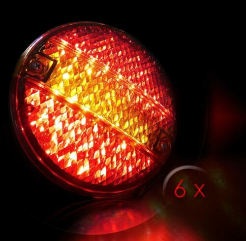 3 Paar 24 Volt LED Heckleuchten Hamburger Heckleuchten Lkw Anhänger Scania