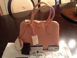 prada red leather bag - Prada Saffiano Lux Small Promenade Satchel Leather Orchid | eBay