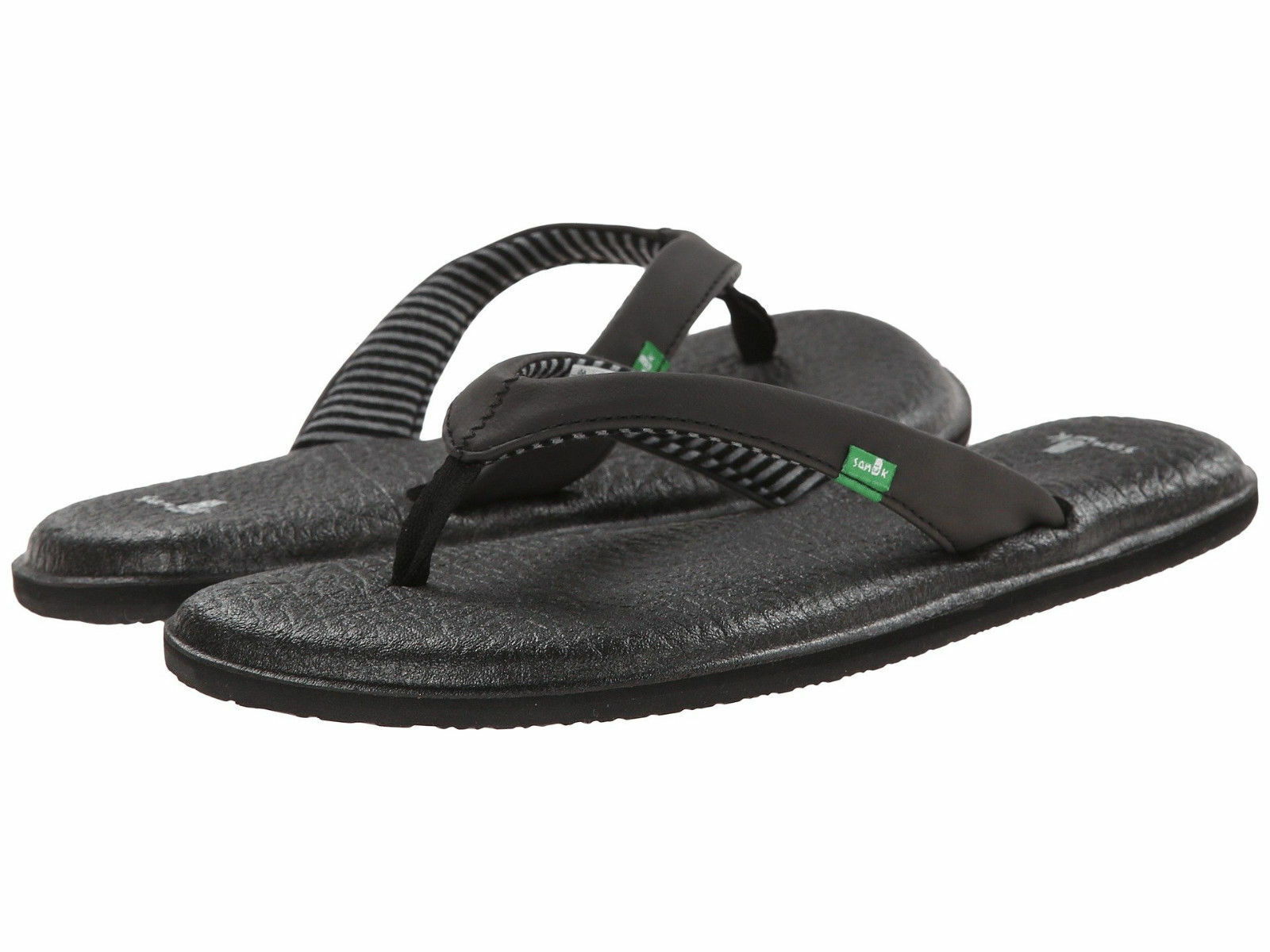 Man/Woman function Women-Sanuk-Yoga-Chakra-Flip-Flop-Sandal-SWS10577-Black-100-Authentic-Brand-New Good design special function Man/Woman Caramel, gentle ec0fa4