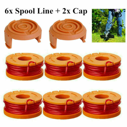 WORX WA0010 Replacement Grass Trimmer Spool Line+Spool Cap Cover,10ft WG150-175
