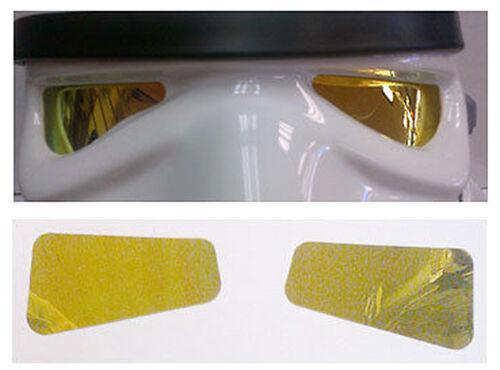 Film miroir lentilles de couleur jaune pour Star Wars Stormtrooper Costume Casques