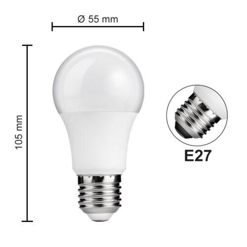 3x LED Birne 6W warmweiß Sparlampe Leuchtmittel Glühbirne Lampe Leuchte E27 A+