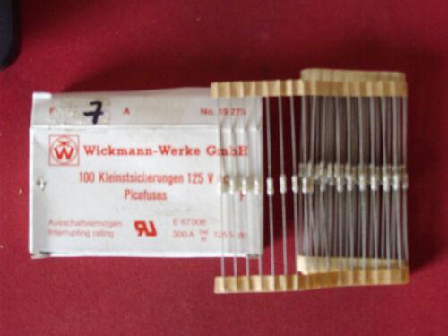 10 St Picofuses flink 7A  Wickmann Type 19275