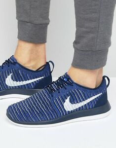 promo code 6b0fe 63103 Details about NIKE ROSHE TWO FLYKNIT Running Trainers Shoes Casual UK 8.5  (EU 43) College Navy