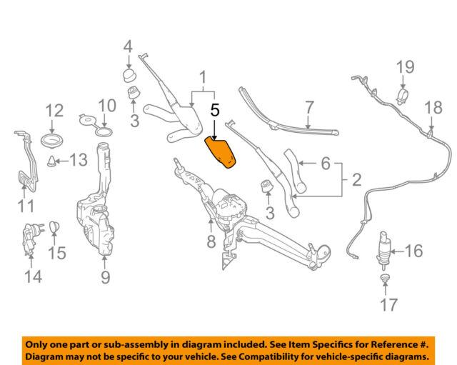 MERCEDES Mercedes-Benz OEM Wiper Washer-windshield-wiper Arm Cover ...