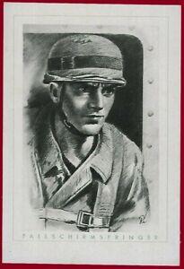 German WW 2 Third Reich postcard Fallschirmjäger - Paratrooper