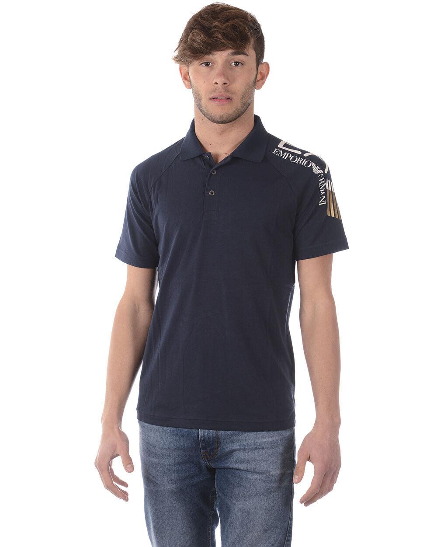 Emporio Armani EA7 Polo Shirt Cotton Man Blau 3ZPF56PJ03Z 1554 Sz XL MAKE OFFER