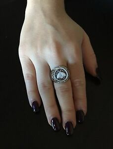 Stable Anello In Argento 925 Cammeo Coccinella Sardonico Ring Cameo Made In Italy