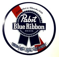 "Pabst Blue Ribbon Beer 7"" Diameter Metal Sign"