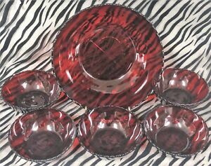 1-Anchor-Hocking-ROYAL-RUBY-Dark-Red-6-Piece-Pressed-Glass-Berry-Bowl-Set-1938