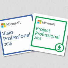 Microsoft Visio & Project Professional 2016 2 Users Bargain Full - 2 Codes