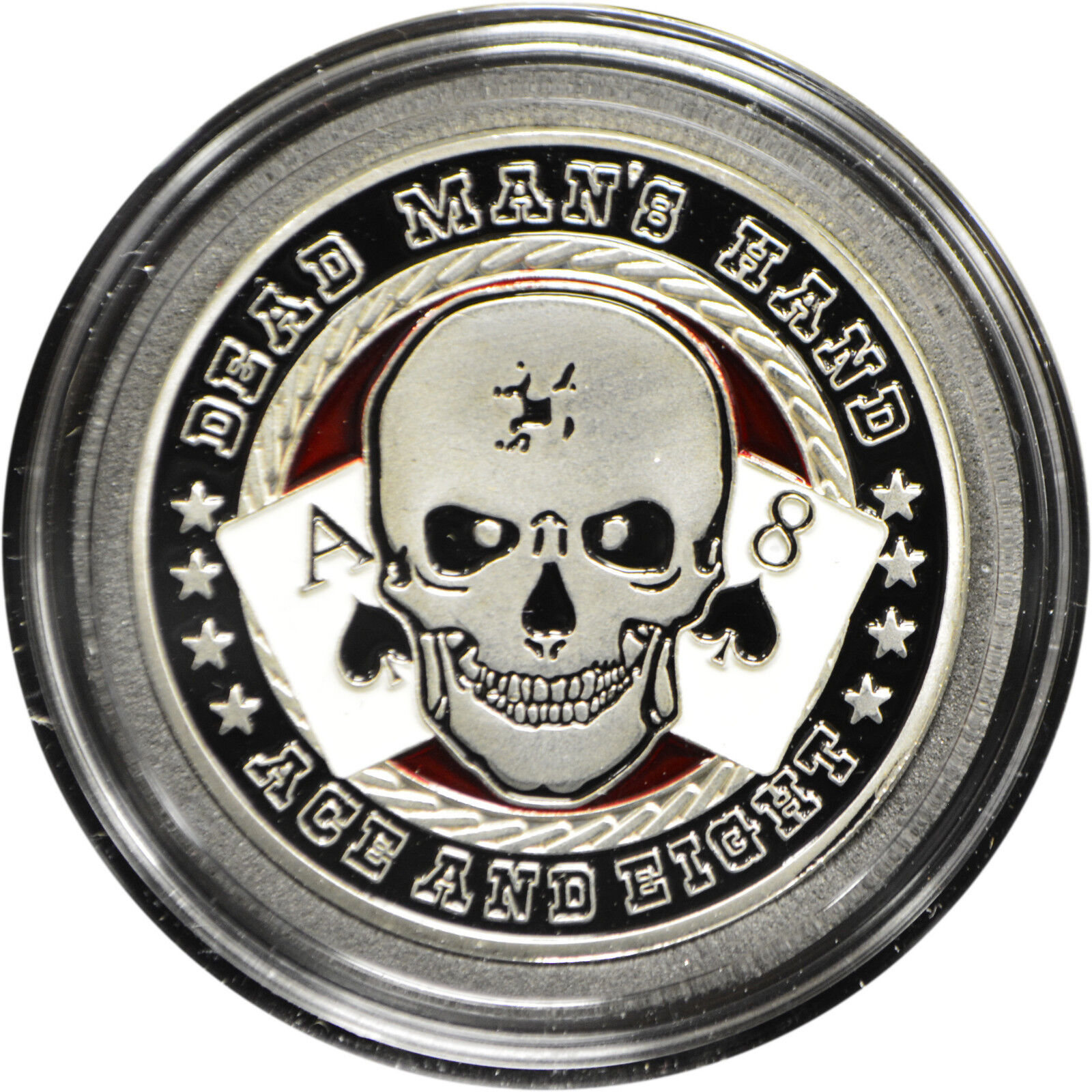 WR Poker Guard Card Cover Dead Man/'s Hand Skeleton Gold Foil Coin Chip Gifts