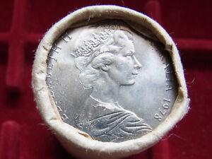 Australia-1978-50c-Mint-Roll-20-coins-UNC-BU-In-RAM-wrapper
