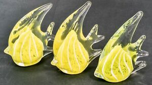 Art Glass Yellow Angel Fish