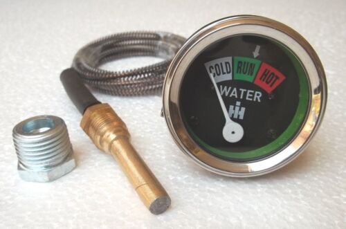 "H Water Temperature Gauge fits IH Super  A MD W9 M WD6 MTA AV WD9  16/"""