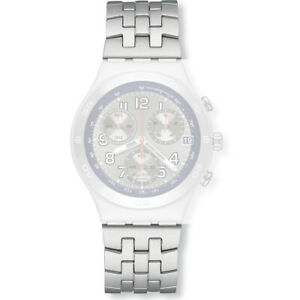 NEU-ALUMINIUM-Armband-ORIGINAL-strap-NEW-bracelet-Swatch-Irony-Chrono-GREYSCALE