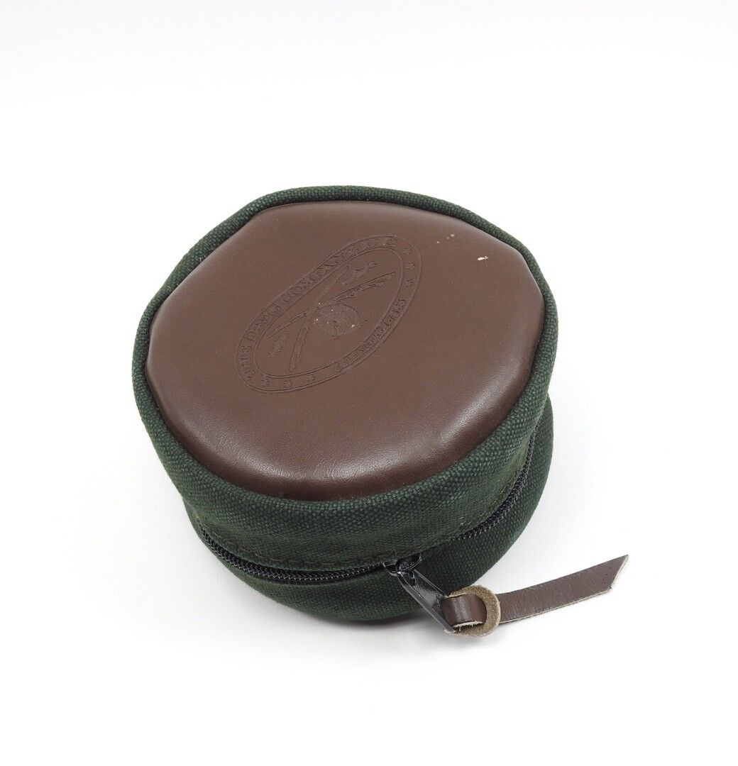 Orvis Leather and Canvas Fly Fishing Reel Case.